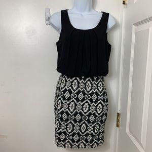 A.Byer Womans summer Dress sz S Black White Trival